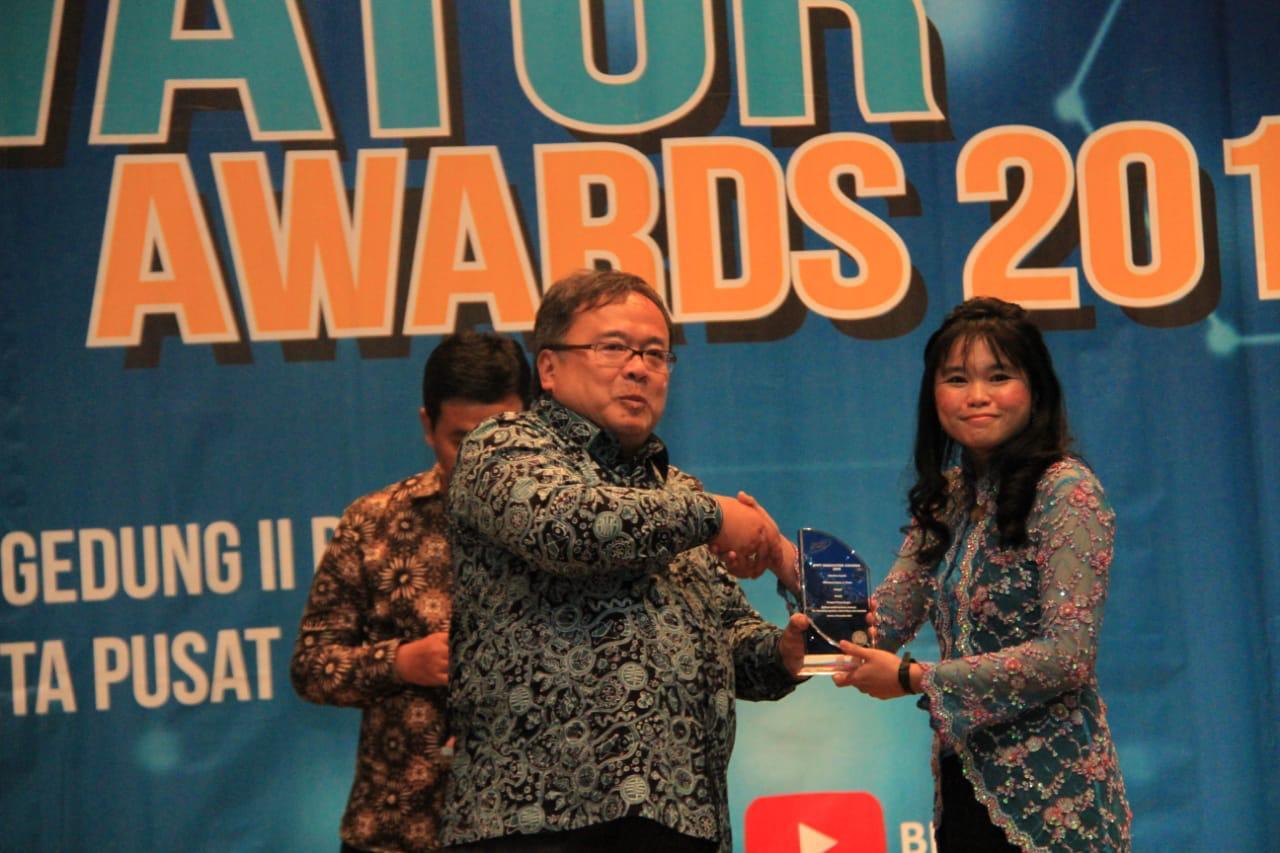 AlumAlumni Sekolah Farmasi memperoleh penghargaan BPPT Innovator Award 2019