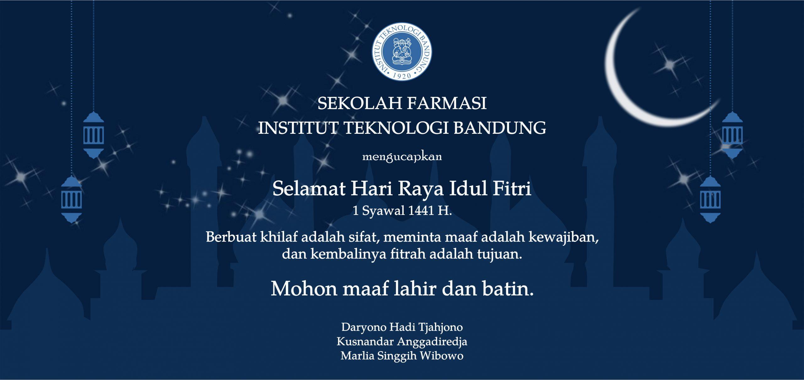 Selamat Idul Fitri 1441 H.