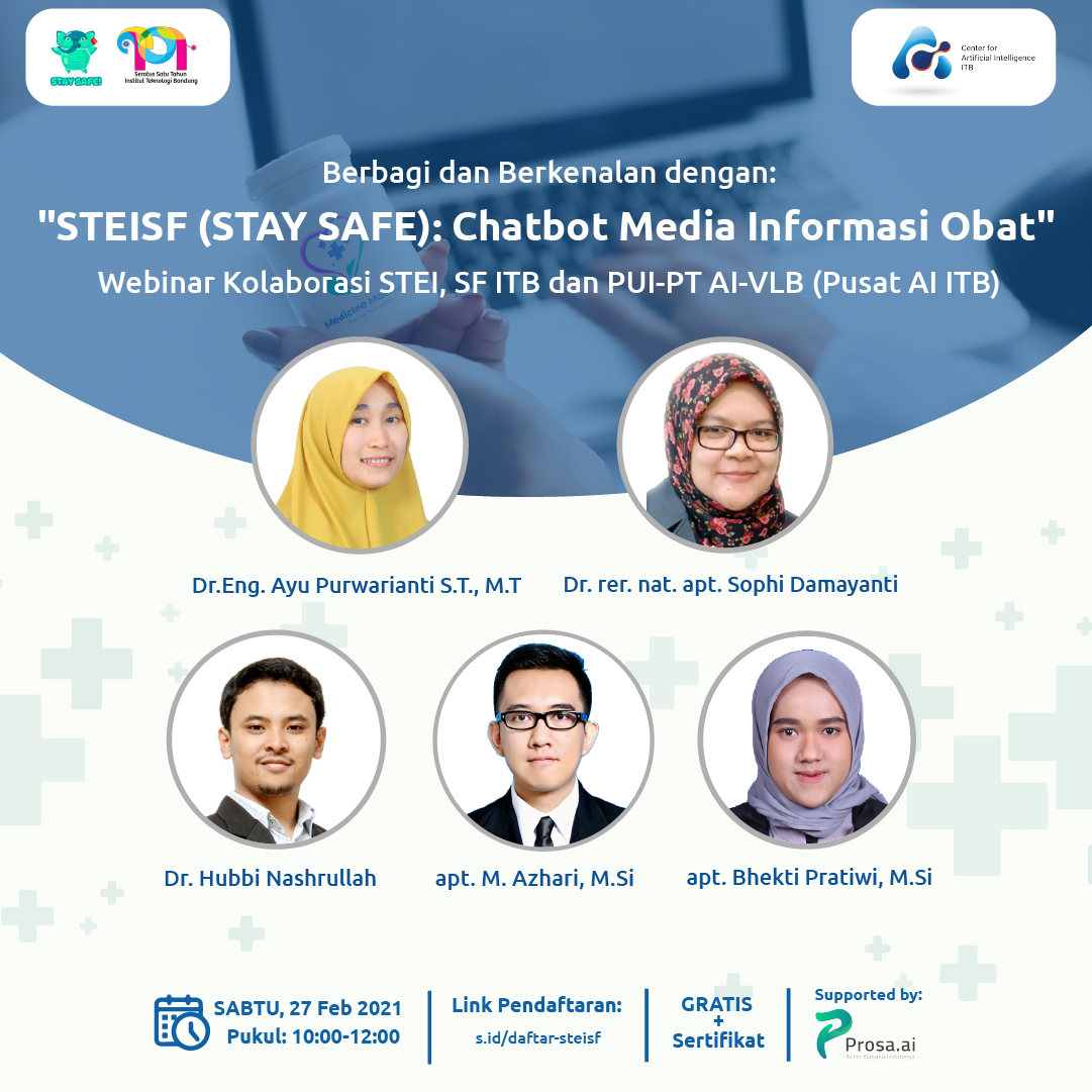 Webinar STEISF (STAY SAFE): Chatbot Media Informasi Obat