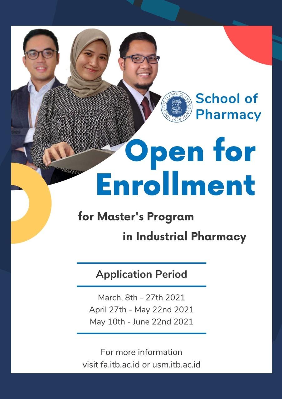 Open for Enrollment for Master's Program in Industrial Pharmacy