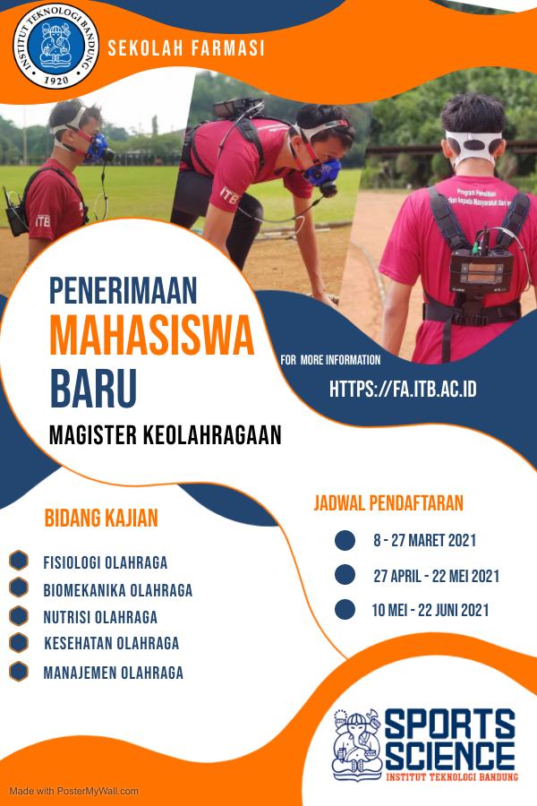 Penerimaan Mahasiswa Baru Magister Keolahragaan ITB Tahun Ajaran 2021/2022
