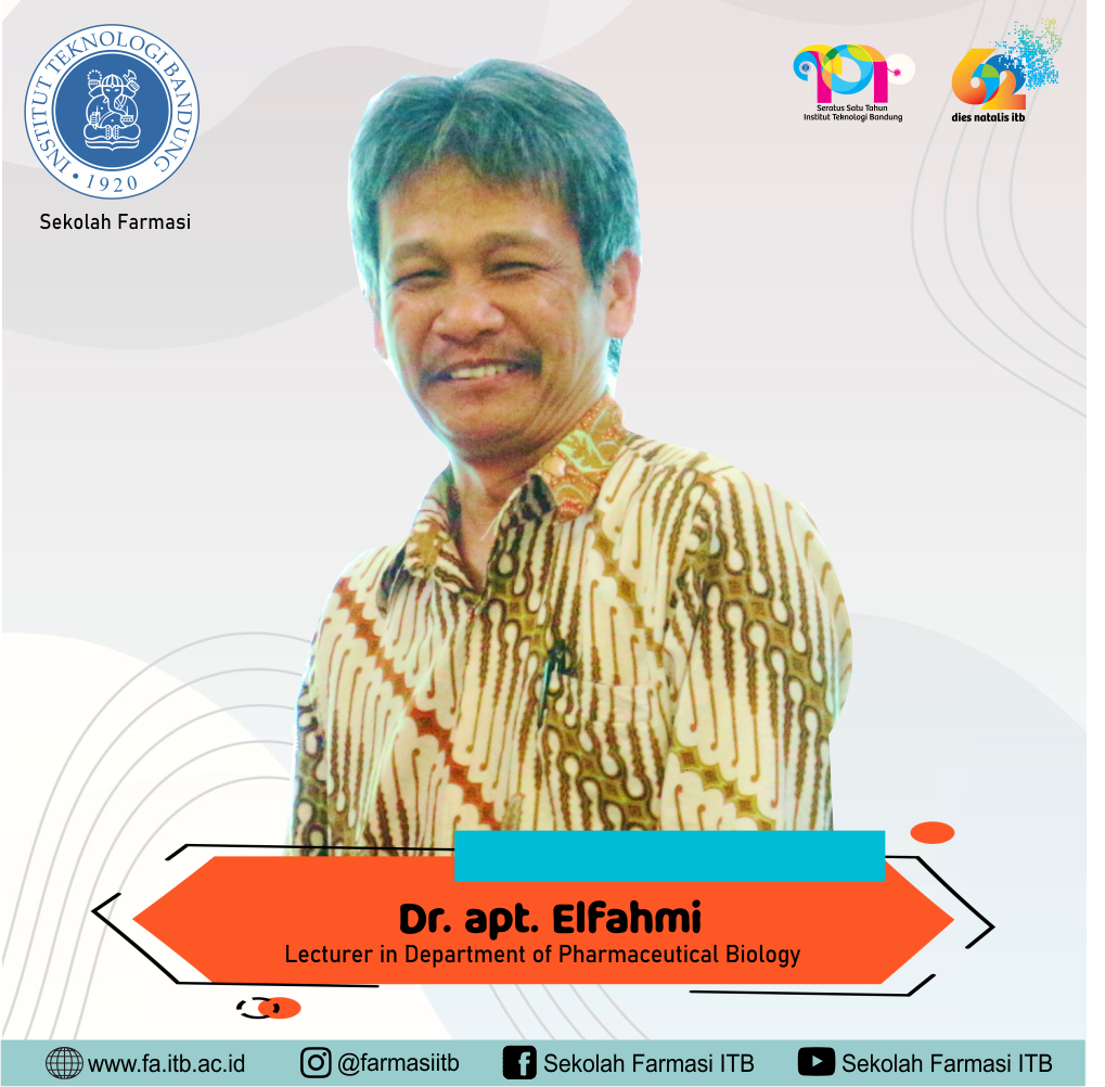 Get Closer with Dr. apt. Elfahmi, M.Si., Enthusiastic Researcher in Medicinal Plant Biotechnology